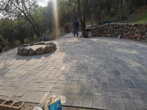 outside paving work done